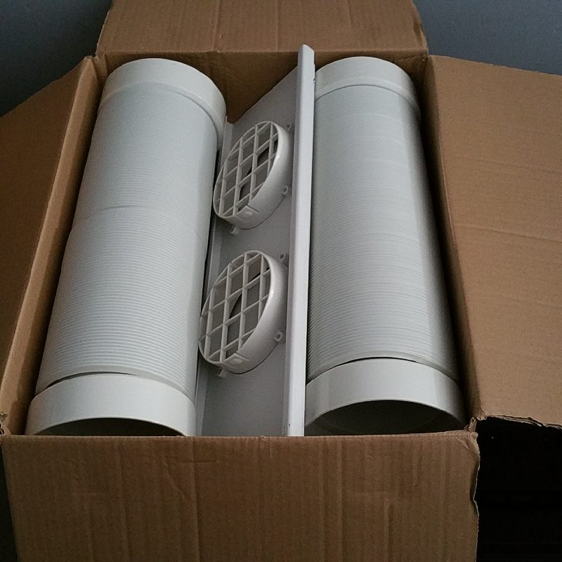 Lot 2068c whynter eco friendly 14000 btu dual hose for Eco friendly heaters